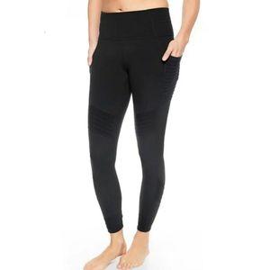 Athleta black stash pocket moto leggings 7/8